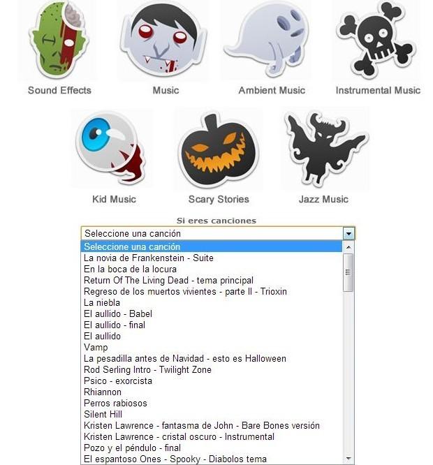 Canciones para Halloween | Música y sonidos Halloween
