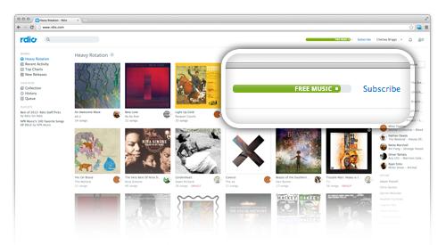 Escuchar música gratis por seis meses con Rdio