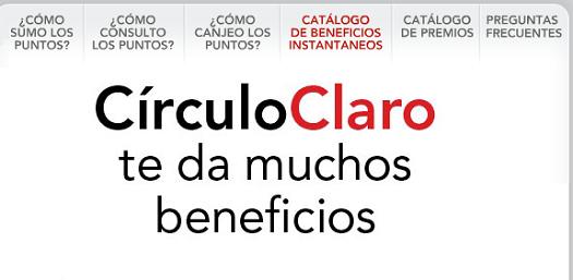 www.circulo.claro.com.ar: Cambiar puntos Claro, Club Claro canje de puntos