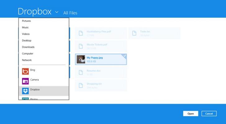 Dropbox para Windows 8 descarga en versión para Metro