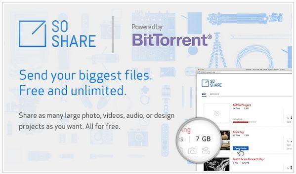 Compartir archivos 1TB con SoShare, lo nuevo de Bittorrent