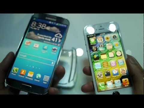 Comparando el Samsung Galaxy S4 vs iPhone 5