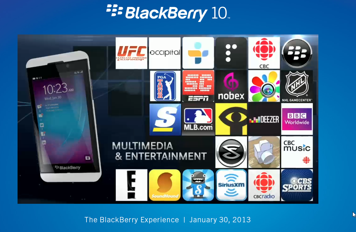 Blackberry World con más de 100 mil aplicaciones para Blackberry Z10