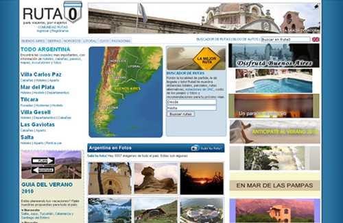 www.ruta0.com: Buscar rutas argentinas online