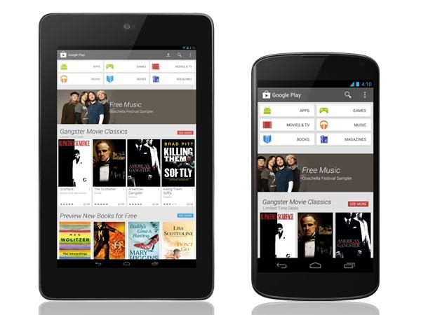 Nuevo diseño de Google Play para Android mejorado