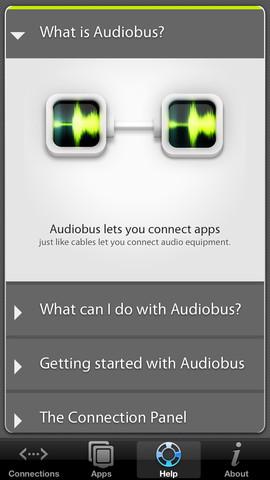 Crear música en iPad o iPhone con AudioBus