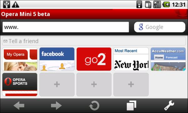 Descargar Opera Mini para celulares Samsung