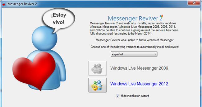Como volver a usar MSN con Messenger Reviver