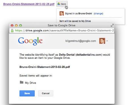 Nuevo botón para guardar páginas web en Google Drive