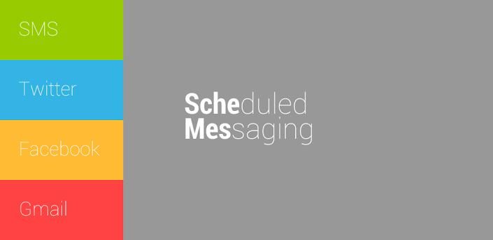 Programar SMS para enviar actualizaciones de Facebook, Tweets y más en Android