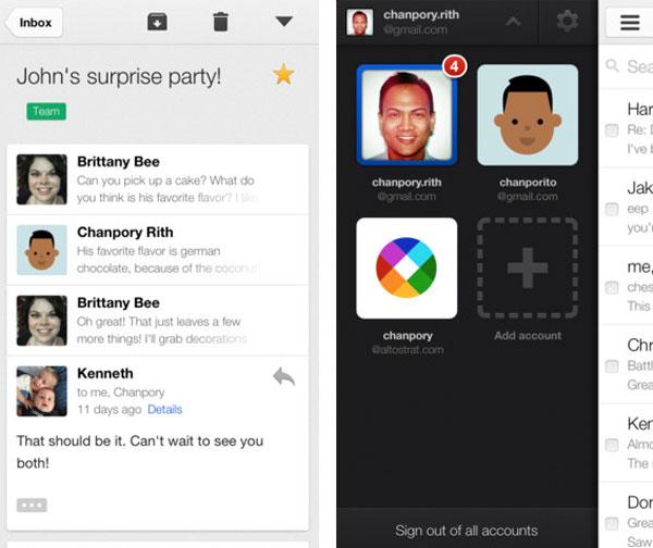 Nueva versión de Gmail para iPhone