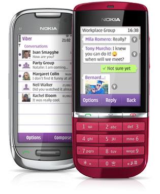Viber para Nokia Asha 303 / 305 / 306 descarga gratis