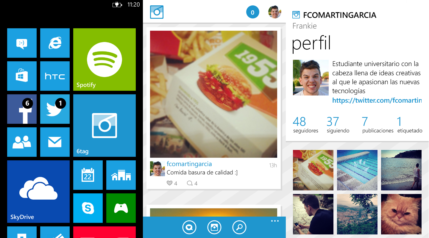 Opción a Instagram para Windows Phone