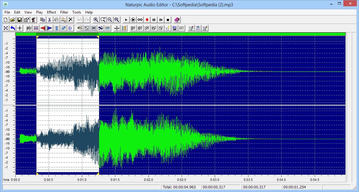 Editor profesional de audio para Windows gratuito
