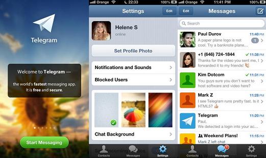 Telegram para Nokia Asha