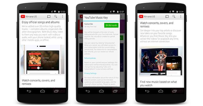 YouTube Music Key: servicio de musica vía streaming de Google