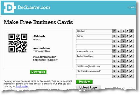 como crear mis tarjetas de presentacion online y gratis desarrollo