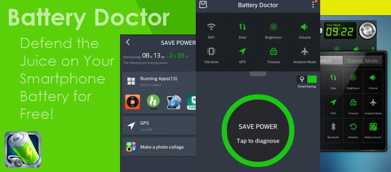 Ahorrar consumo de batería en Android con app Battery Doctor