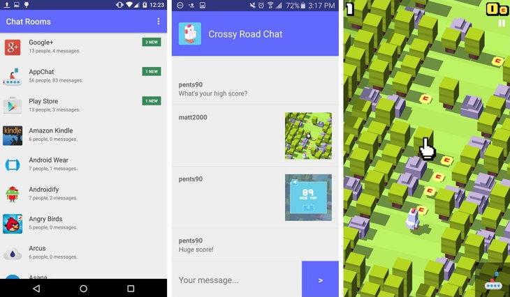 Responder mensajes de aplicaciones desde AppChat para Android