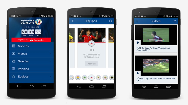 Cómo instalar en mi Android la app oficial de la Copa America 2015