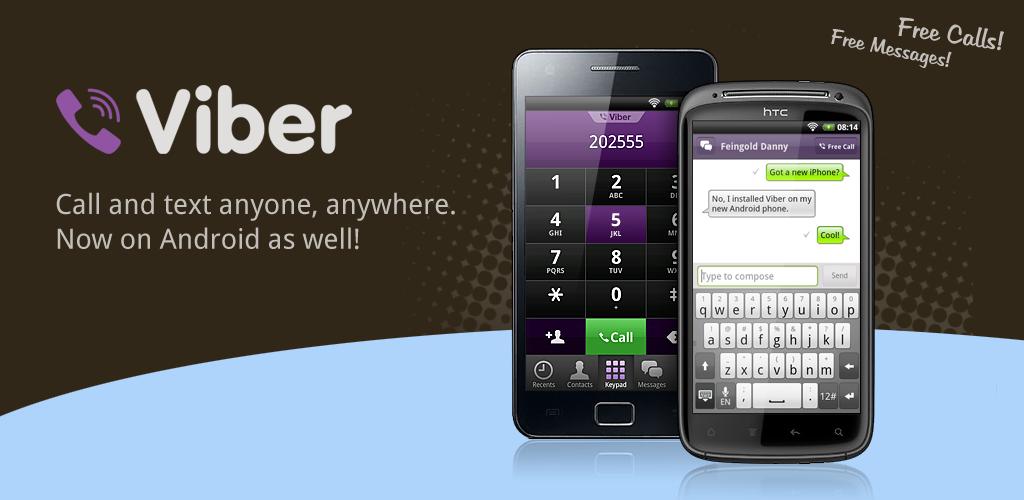 App de mensajería y llamadas gratuitas Viber para Android