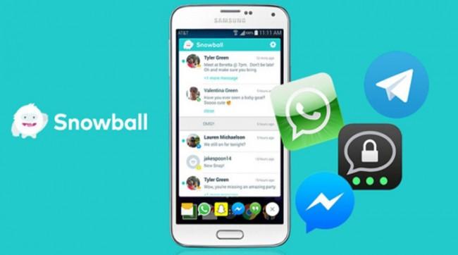 Agrupar notificaciones de diferentes apps en Snowball para Android